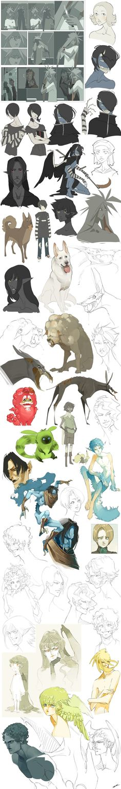 Sketch Dump by WhiteFoxCub.deviantart.com on @deviantART