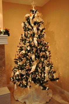 1000 images about christmas decorations on pinterest How do i decorate my christmas tree with ribbon
