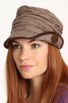 Grace Hats Layered Cap Hat In Brown