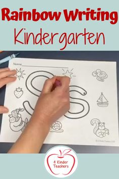 Looking for alphabet activities? These rainbow writing printable pages are great for letter formation, letter names, letter sounds and identifying different things that start with the letter. In our blog post we also talk about how to rainbow write spelling words, rainbow write sight words, and even rainbow write shapes. #rainbowwritingletters #kindergartenworksheets #kindergartenactivities Alphabet Phonics, Alphabet Worksheets, Learning The Alphabet, Alphabet Activities, Student Learning, Kindergarten Names, Preschool Classroom, Kindergarten Activities, Rainbow Writing