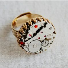 Steampunk Ring Vintage Handmade Rings Vintage by FlagPunk on Etsy https://www.etsy.com/listing/214102423/steampunk-ring-vintage-handmade-rings?ref=shop_home_active_9