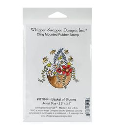 Whipper Snapper Designs Cling Stamp-Basket Of Blooms