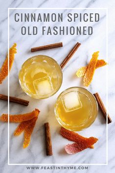 With bourbon, a rich cinnamon syrup and the scent of blood orange, this Cinnamon Spiced Old Fashioned Cocktail will keep you (and your company) cozy on even the chilliest days. Margarita Recipes, Smoothie Recipes, Drink Recipes, Fall Recipes, Vegan Recipes, Syrup Recipes, Thyme Recipes, Party Recipes, Delicious Recipes