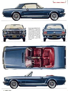 result for mustang blueprints 1966 Ford Mustang, Ford Mustang Convertible, Mustang Cars, Car Ford, 1964 Ford, Classic Mustang, Ford Classic Cars, Ford Lincoln Mercury, Mustang Cabriolet