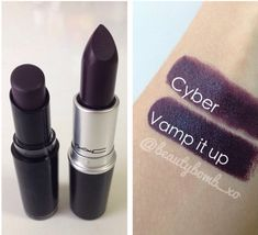 Lipstick dupes: Mac- Cyber/Wet N Wild- Vamp It Up