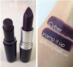 Lipstick dupes: Mac- Cyber/Wet N Wild- Vamp It Up