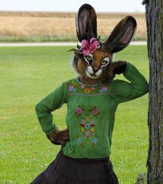 *~*Summer breeze*~* Jackalope costume by Stuffed Panda Studios Centaur Costume, Animal Costumes, Diy Costumes, Mascot Design, Anthro Furry, Otaku, Fantasy Creatures, Halloween, Furry Art