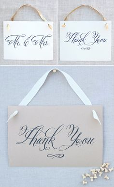free caligraphy wedding signs