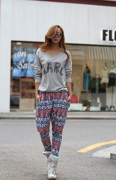Yesstyle: Printed Harem Pants