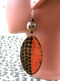 Shield Spotted Tribe Earrings by JEHAANS on Etsy, $25.00