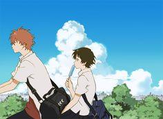 Makoto and Chiaki -- Girl Who Leapt Through Time (Toki wo Kakeru Shoujo) Anime Films, Anime Characters, 5cm Per Second, Mamoru Hosoda, Comics Anime, Wolf Children, Studio Ghibli Movies, Japanese Film, Manga Couple