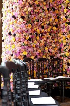 Dior Fashion Show walls of flowers