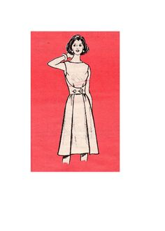 Retro Style Walkaway Walkabout Wrap Apron Dress Mail Order Sewing Pattern Marian Martin 9129 Size 12 Bust 34 Uncut FF by AdeleBeeAnnPatterns on Etsy