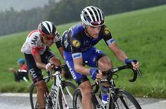 Stage 20. Megève to Morzine-Avoriaz. Julian Alaphilippe and Jarlinson Pantano.