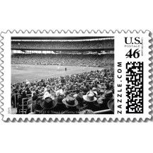 Wrigley Stadium and a Chicago Cubs Baseball Postage Stamps:  Zazzle