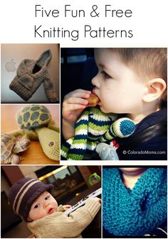Five Fun and Free Knitting Patterns #knitting #free