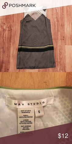 Green and Grey Max Studio Dress Adorable dreas, only worn once and now its too small! I would recommend this dress if you wear a size 2 or 4. Great condition, perfect for work or a cute date. 😊 All of the items I sell come from a non smoking home. I also ship within one to two days 😊 thanks for checking out my closet! ❤️ Max Studio Dresses Mini