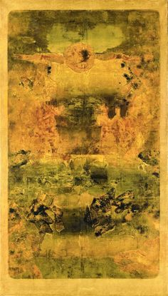 Vasudeo S. Gaitonde (1924-2001), Untitled, 1975. Oil on canvas. 177.8cm H x 106.7cm W. (Image © Christie's Images Limited 2014)