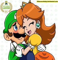 Luigi and Daisy - Year of Luigi by Princesa-Daisy.deviantart.com on @deviantART