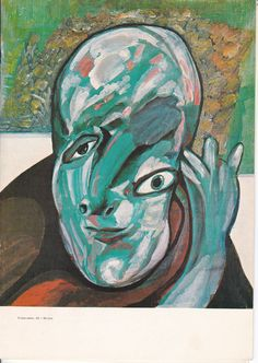 "lucebert/""el loco sabio"" (1958) (the wise madman"") oil 55x48cm"