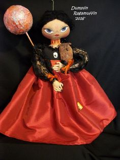 Primitive art doll, 19 in.beautiful OOAK original Halloween collectible #NaivePrimitive