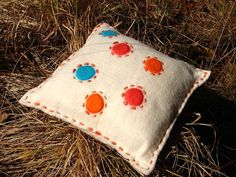Pillow felt felted throw pillow decorative by woolpleasure on Etsy