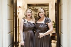 Twobirds Bridesmaid dresses in slate.