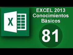 Tutorial Excel (Cap. 81) Excel 2013. Conocimientos basicos