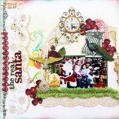 Scrapbook page using Websters