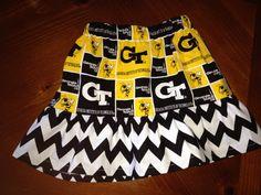Georgia Tech Skirt on Etsy, $15.00