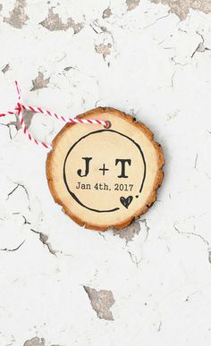 Rustic Wedding Stamp Custom Round Initials Stamp by ThePrintMint