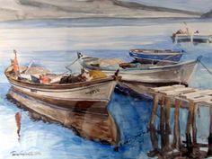 Eser Adı: Kordon iskelesinden Tekniği: Suluboya Yapım Yılı: 1985 Fiyatı: KOLLEKSİYONDA Olçüleri: 50cmx70cm Durumu: