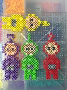 Teletubbies perler beads done by BreAnda Robbins