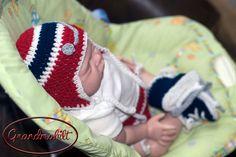 WASHINGTON CAPITALS HOCKEY Helmet Hat , Diaper Cover & Skates Set Also Columbus Blue Jackets Baby Boys Size Preemie/ Newborn/ 3 Months