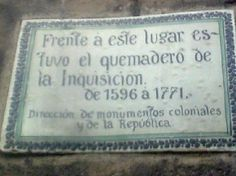 Plaque found in front of La Alameda Central, Mexico City
