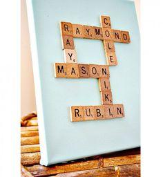 Cadeau DIY : un tableau personnalisé Scrabble© - Cosmopolitan.fr