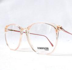 6af3e59d61 Vintage Pink Eyeglass Frames - Oversized Eyeglasses - Light Pink ...
