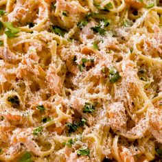 crave pasta most nights—thats just a given—but when we need our Buttered Noodles to turn into something a little more substantial, we add baked salmon and a delicious lemon-butter cream sauce. Its the best thing since boxed pasta. Get the recipe at . Salmon Pasta Recipes, Linguine Recipes, Fish Recipes, Seafood Recipes, Chicken Recipes, Dinner Recipes, Cooking Recipes, Pasta With Salmon, Pasta Bake Recipes