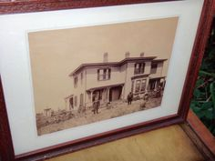 Black White Photo, Antique Photo Turn of Century Photo, Victorian, Homestead, Photo, Sepia Picture, Country Scene, Sepia Photo, 1900s, Art by CasaKarmaDecor, $39.00 USD