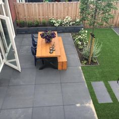 Child-friendly garden with artificial grass and large tiles - Hoveniersbedrijf van den H . - Child-friendly garden with artificial grass and large tiles – Hoveniersbedrijf van den HeuvelHove - #