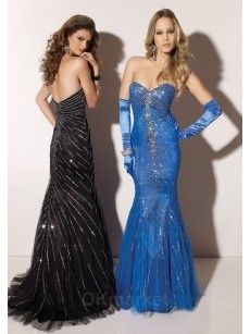 a1601a229d0 beaded mermaid blue and black prom dresses