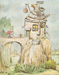 Erwin Moser Art And Illustration, Book Illustrations, Cover Art, Art For Kids, Watercolor, Ink, Inspiration, Cartoon, Drawings