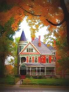 Victorian House, Crawfordsville, Indiana  photo via Mary ~ I want this house!  What a breathtaking picture of it too!~SRG