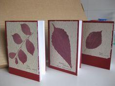 llibretes amb serigrafia botànica
