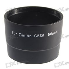 58mm Digital Camera Lens Adapter Tube for Canon S5