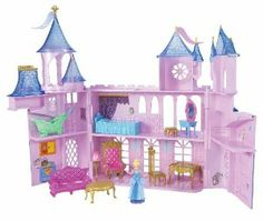 Disney Princess Royal Castle by Mattel. $58.81. Girls can relive all the fairytale magic with the Disney Princess Mega Castle. Features customize areas of the Castle that girls can decorate. Perfect for playing out princess adventures. Includes Castle with 6 rooms, labels, doll, furniture and piece-count. Opens up to reveal 6 royal rooms. From the Manufacturer                Disney Princess Royal Castle: Girls can relive all the fairytale magic with the Disney Prin...