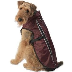 The Taos Two-Tone Coat- Cranberry ($29) combines comfort, fashion and safety for your pet.