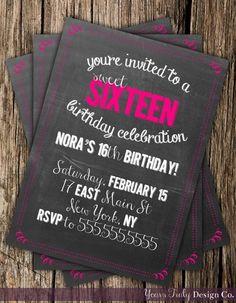 Blush Pink & Gold Glitter Girl Sweet Sixteen 16th Birthday ...
