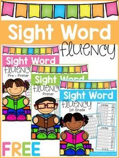 Kindergarten Sight Word Fluency (Pre-Primer, Primer, First Grade)This pack is great for beginning readers or struggling readers in Pre-K, Kindergarten and in First Grade to build confidence in FREE SIGHT WORD FLUENCY PHRASESTo look at the full Sight Word Sentences, Teaching Sight Words, Dolch Sight Words, Sight Word Practice, Reading Fluency, Reading Intervention, Kindergarten Reading, Reading Strategies, Guided Reading