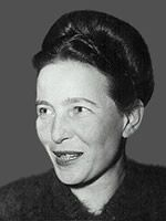 """Simone de Beauvoir. French philosoph and writer.1908-1986.    """"One is not born a woman, one becomes one"""""""